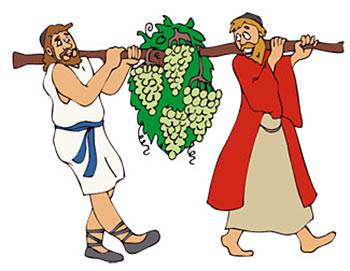 Two men carrying grapes clipart vector freeuse library No Need to Fear   Know Your Bible Level 2 Lesson 3 vector freeuse library