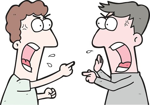 Two people arguing clipart png black and white stock Cartoon Two People Arguing premium clipart - ClipartLogo.com png black and white stock