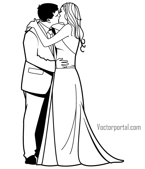 Two people kissing clipart wedding clipart transparent stock Clipart romantic kiss - ClipartFox clipart transparent stock