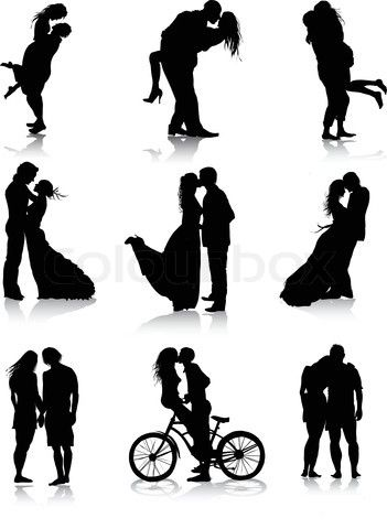 Two people kissing clipart wedding vector transparent library 17 Best ideas about Couple Silhouette on Pinterest | Pregnancy ... vector transparent library