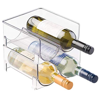 Two people taking beer from fridge clipart jpg library stock mDesign Plastic Free-Standing Wine Rack Storage Organizer for Kitchen  Countertops, Table Top, Pantry, Fridge - Holds Wine, Beer, Pop/Soda, Water  ... jpg library stock