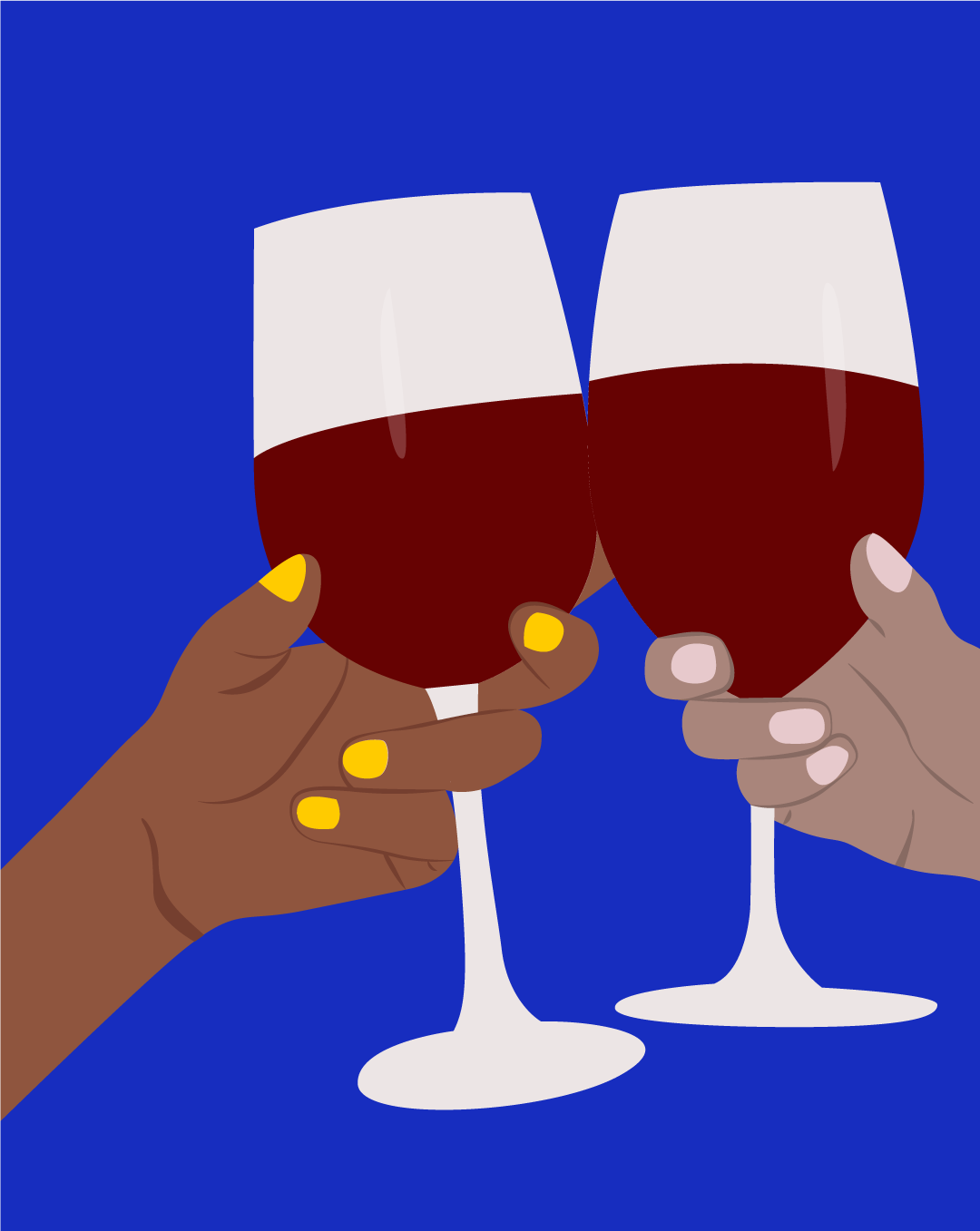 Two people taking beer from fridge clipart clipart royalty free library This Is Why You Have a Red Wine Headache   SELF clipart royalty free library