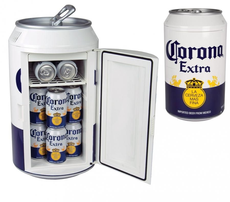 Two people taking beer from fridge clipart image black and white library Giant Corona Can Beer Cooler   Unique Gifts in 2019   Beer ... image black and white library
