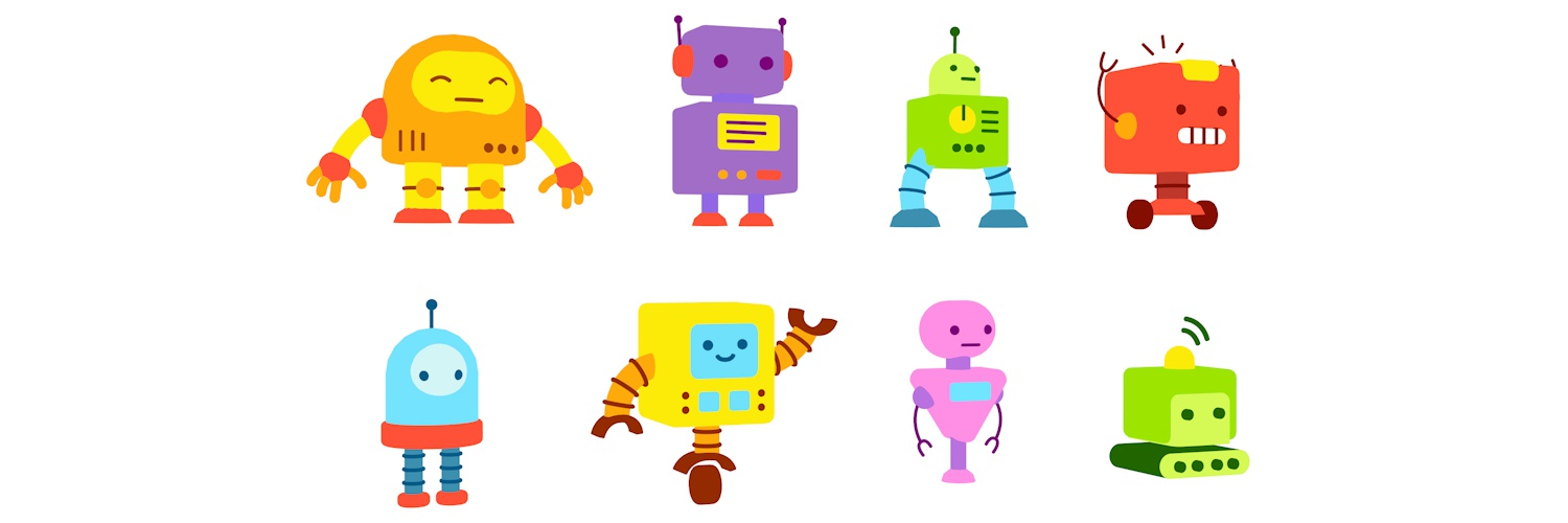 Two people talking clipart with moving spotlight banner library Sketchfab Community Blog - Art Spotlight: Robot Cartoon ... banner library