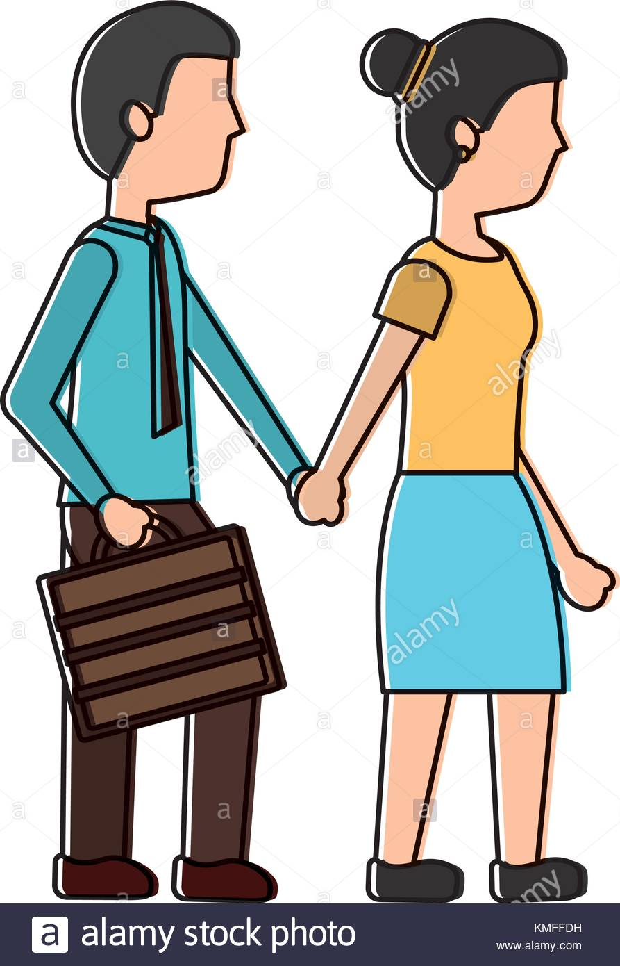 Two people walking together clipart clip black and white library Two People Walking Clipart & Free Clip Art Images #21836 ... clip black and white library