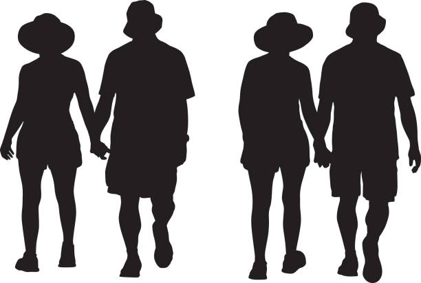 Two people walking together clipart svg royalty free stock Royalty Free Two Men In Hats Walking Toget #318259 ... svg royalty free stock