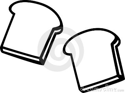 Two slices of bread clipart clip art royalty free stock Slice Of Bread Outline   Free download best Slice Of Bread ... clip art royalty free stock