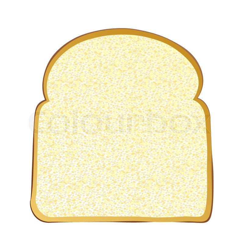 Two slices of bread clipart graphic free stock Single slice of wholemeal white bread ...   Stock vector ... graphic free stock