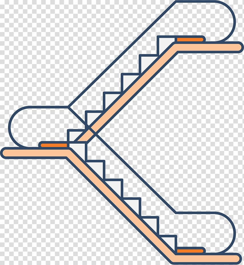 Two steps clipart vector library download Escalator Stairs Elevator Icon, Two steps up and down the ... vector library download