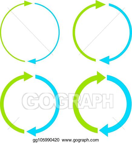 Two steps clipart vector freeuse download Vector Illustration - Two steps cycle icon. EPS Clipart ... vector freeuse download