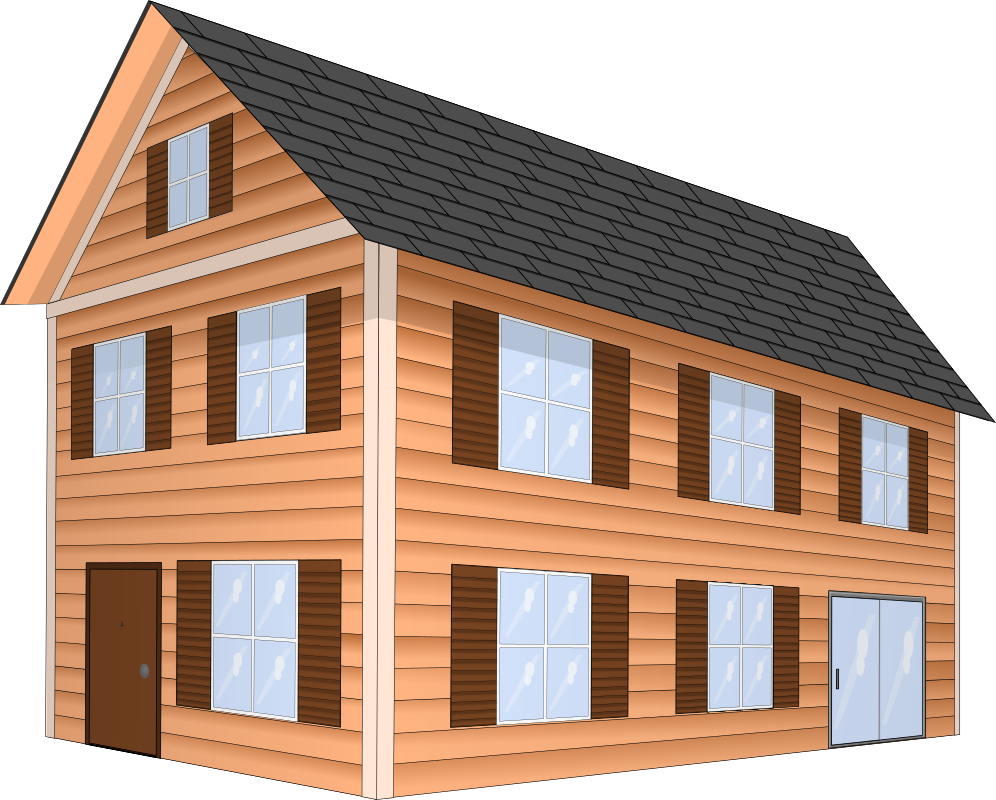 Two story house clipart banner royalty free library Clipart - House banner royalty free library