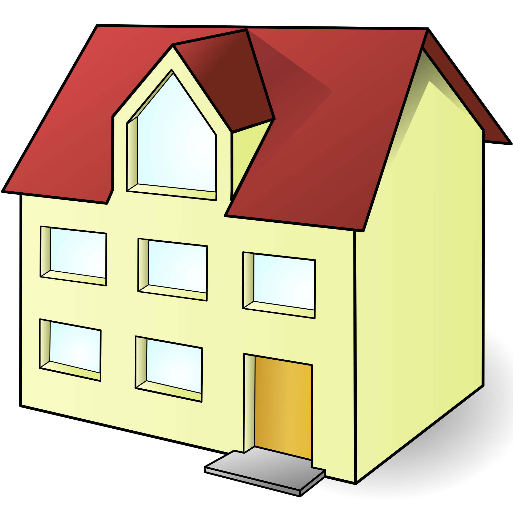 Two story house clipart png graphic royalty free library File:House christoph brill 01.svg - Wikimedia Commons graphic royalty free library