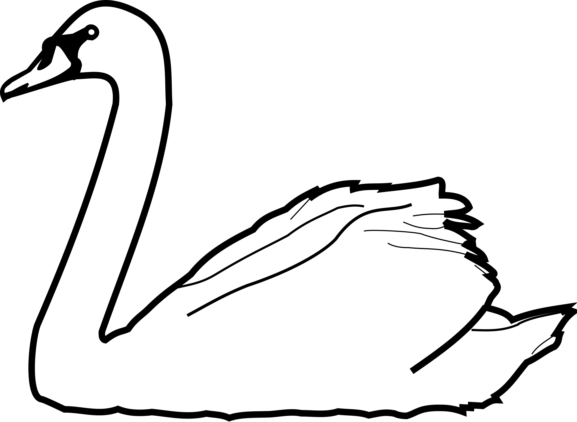 Two swans making a heart clipart vector free stock Swans Drawing at GetDrawings.com | Free for personal use Swans ... vector free stock