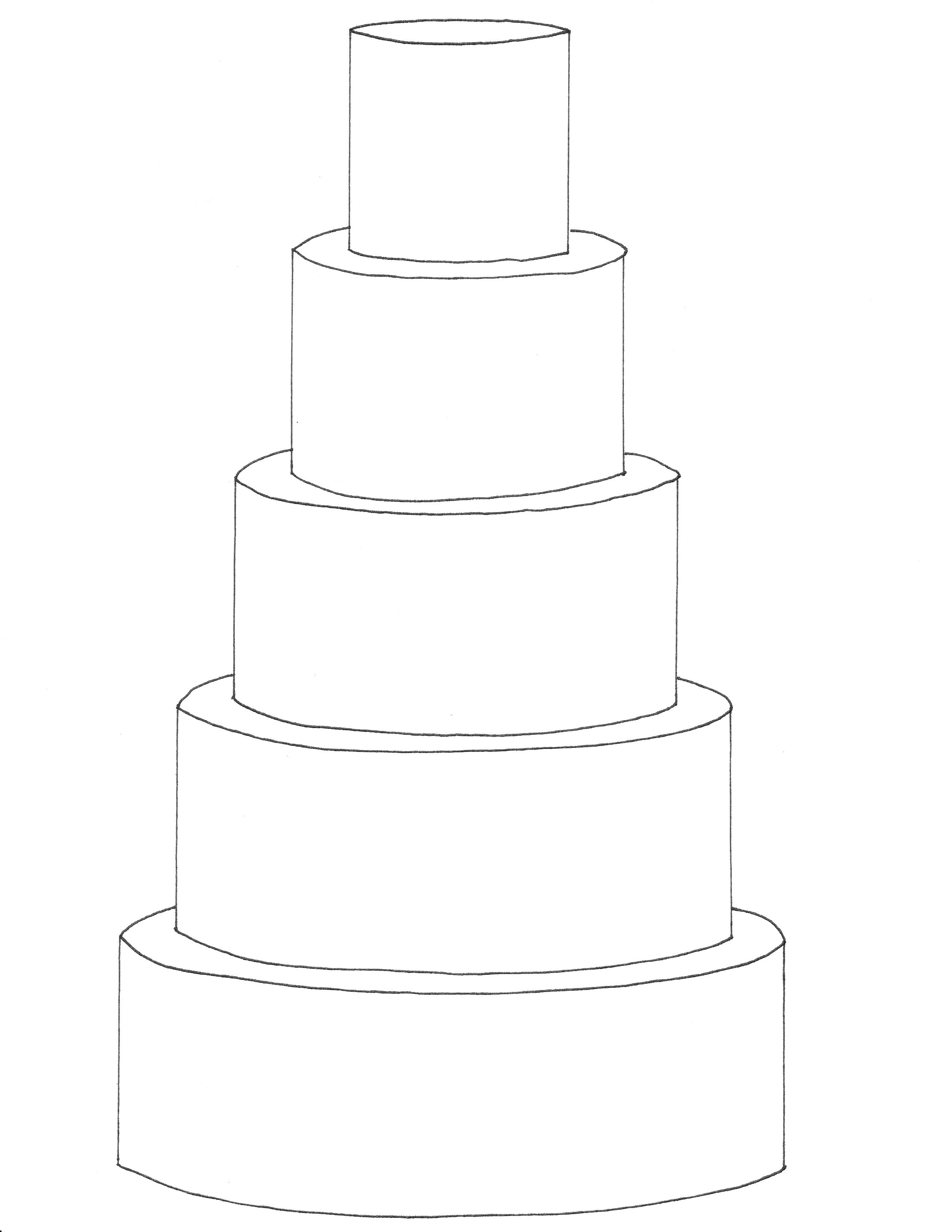 Two tiered cake clipart black and white png library library 5 tier round cake template FREE downloadable cake templates ... png library library