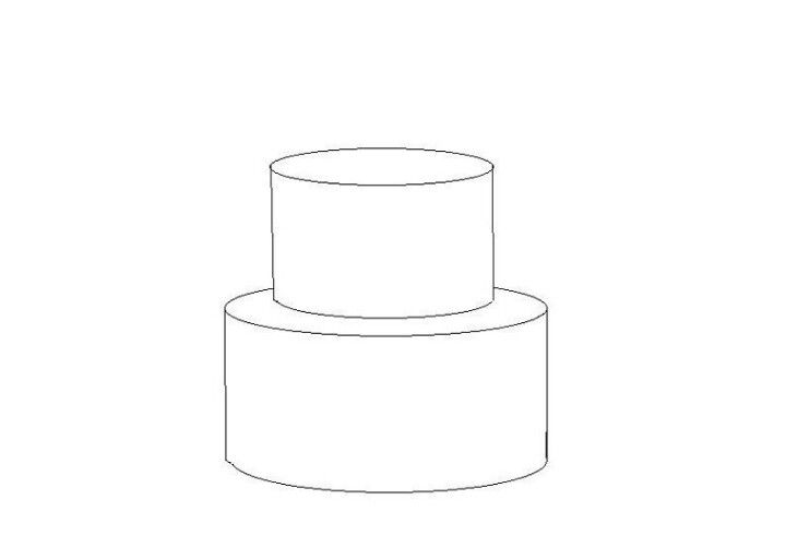 Two tiered cake clipart black clip library 2 tier cake template | Cake tutorial in 2019 | Cake ... clip library