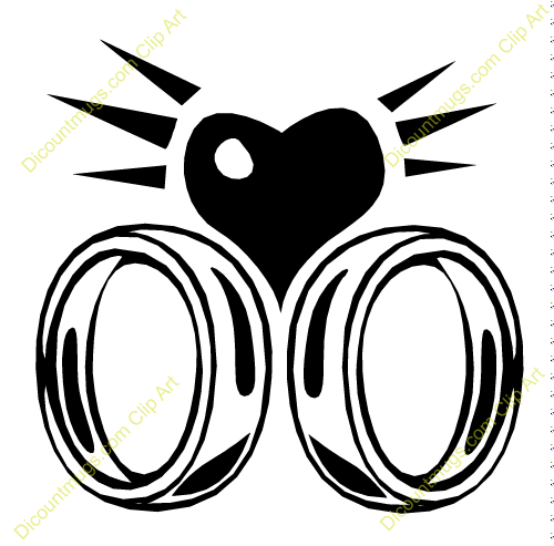 Two wedding rings clipart image black and white library Two wedding rings clipart - ClipartFest image black and white library