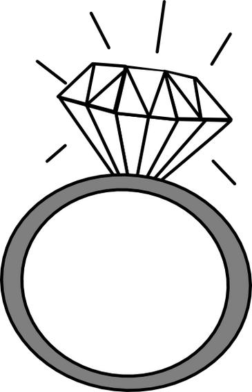 Two wedding rings clipart image black and white stock Two wedding rings clipart 3 – Gclipart.com image black and white stock