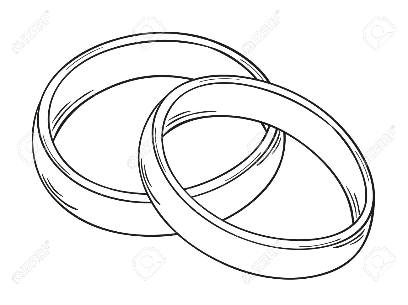 Two wedding rings clipart vector freeuse download Two wedding rings clipart - ClipartFox vector freeuse download