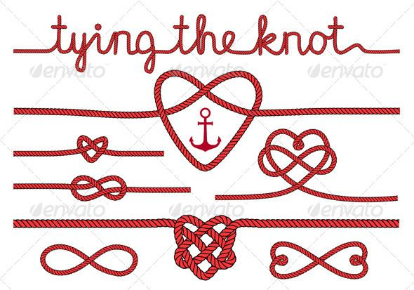 Tying the knot clipart jpg royalty free Tying the Knot Rope Hearts Set | PP Logo in 2019 | Knot ... jpg royalty free