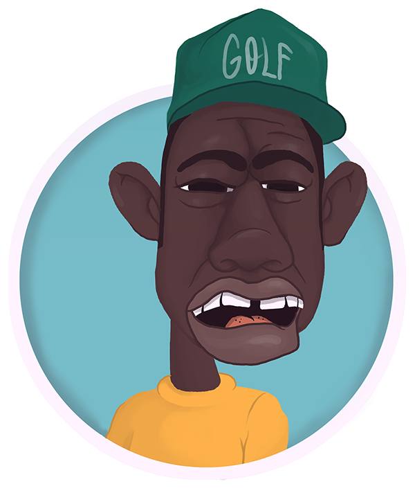 Tyler the creator clipart clip art black and white stock Tyler, The Creator on Behance clip art black and white stock