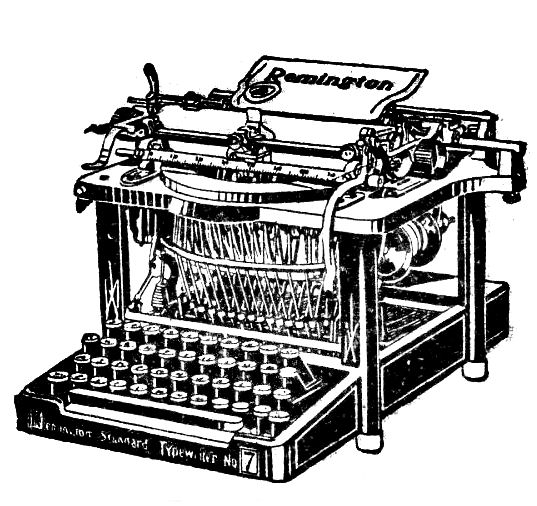 Type writer thank you clipart