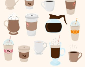 Types of coffee clipart clip library download coffee clipart - Honey & Denim clip library download