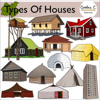 Types of houses clipart svg freeuse download Types Of Houses Clipart Worksheets & Teaching Resources | TpT svg freeuse download