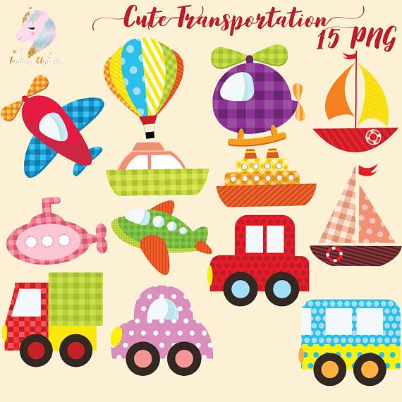 Clipart transportation banner free Cute Transportation Clipart banner free