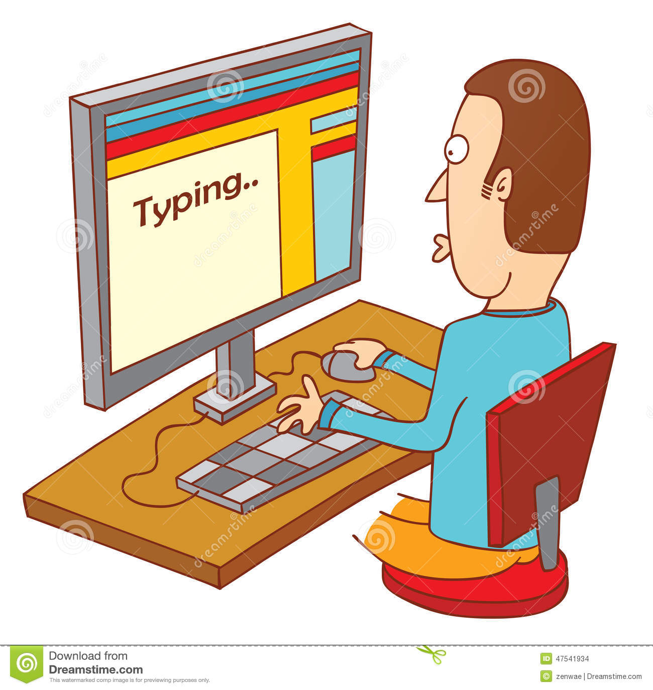 Typing in computer clipart image free download Person typing on computer clipart - ClipartFest image free download