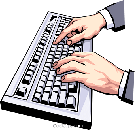 Typing in computer clipart banner black and white download Touch Typing Keyboard Clip Art – Clipart Free Download banner black and white download