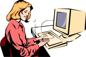 Typing in computer clipart jpg transparent download Clipart secretary typing - ClipartFest jpg transparent download
