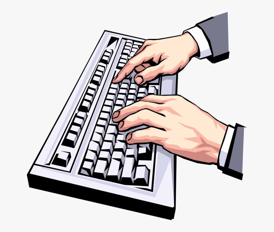 Typing keys clipart jpg free library Keyboard Vector Png - Typing Clip Art, Cliparts & Cartoons ... jpg free library