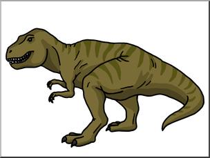 Tyrannosaurus rex clipart banner transparent Clip Art: Tyrannosaurus Rex 2 Color I abcteach.com   abcteach banner transparent
