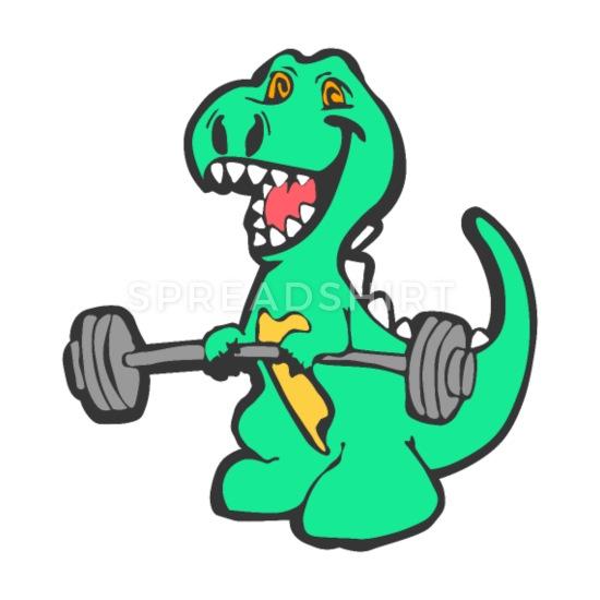 Tyrannosaurus with muscles clipart jpg freeuse Fitness Gym T-Rex Coffee/Tea Mug - white jpg freeuse
