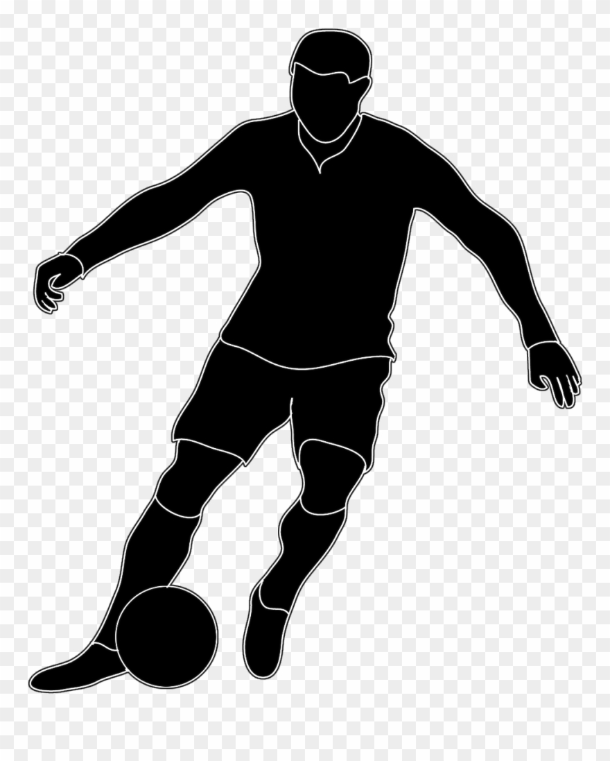 U s a soccer players cliparts graphic library library Soccer - Football Players Clipart Black And White - Png ... graphic library library