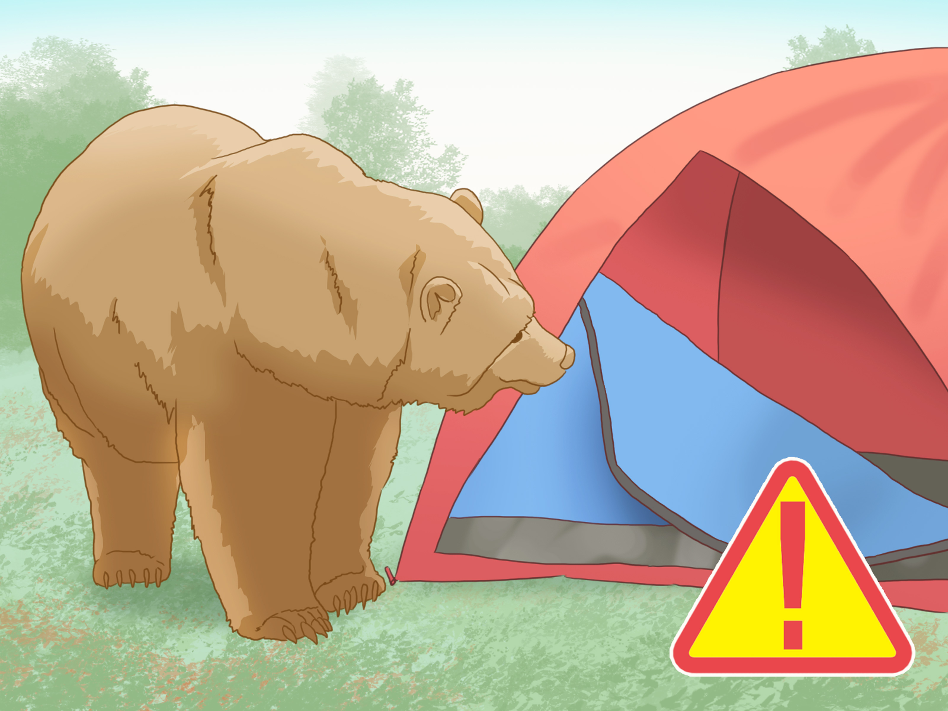 Ua bear down clipart graphic royalty free stock How to Assemble a Tent (with Pictures) - wikiHow graphic royalty free stock