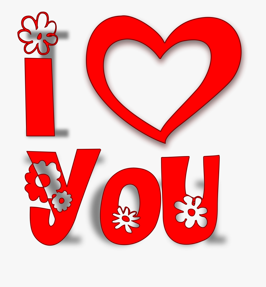 U+-a clipart clip black and white library I Love U Clipart - Love You Logo Png #44148 - Free Cliparts ... clip black and white library