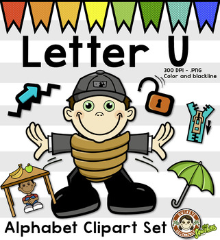 U+-a clipart banner freeuse library Alphabet Clip Art: Letter U Phonics Clipart Set - Clip Art banner freeuse library