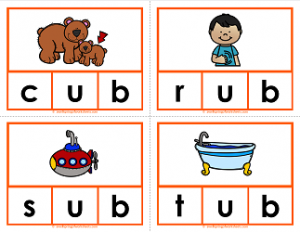 Ub clipart clip royalty free stock ub Words Clip Cards - CVC Words - Phonics | A Wellspring of ... clip royalty free stock