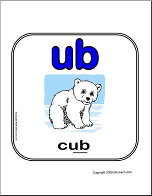 Ub clipart clipart royalty free Word Family - UB Words Sign I abcteach.com | abcteach clipart royalty free