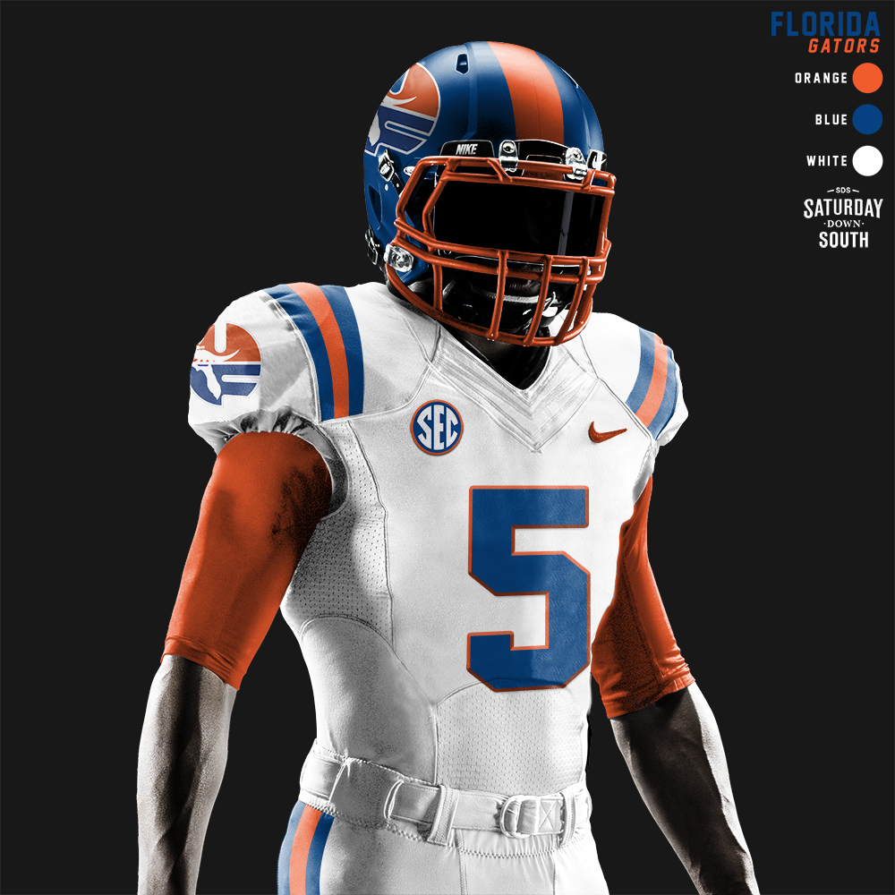 Uf football jersey clipart image free library Original uniform concepts for the Florida Gators image free library