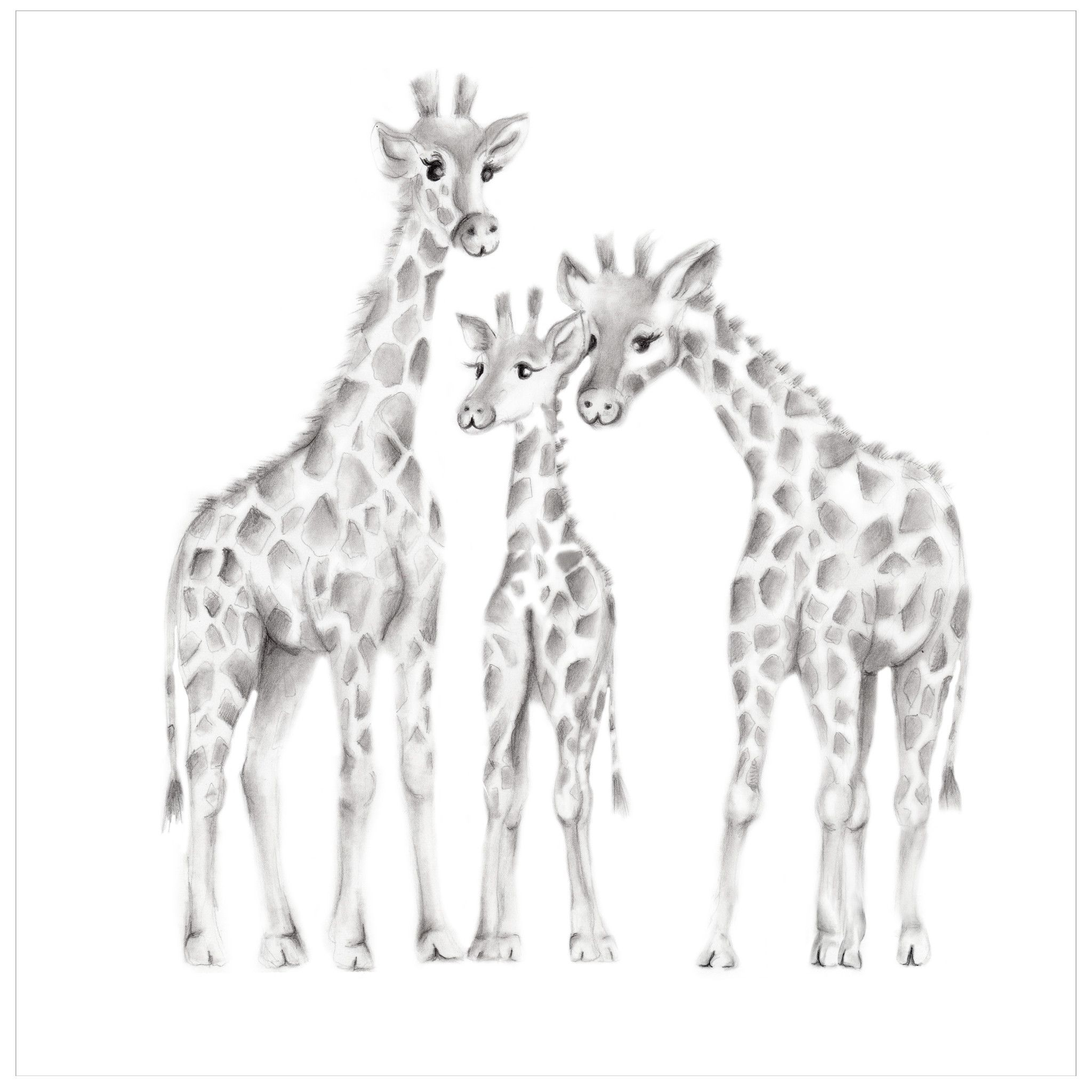 Ufo clipart with a giraffe in it png black and white download Giraffe Family Stars Nursery Print | Awesome art | Pencil ... png black and white download
