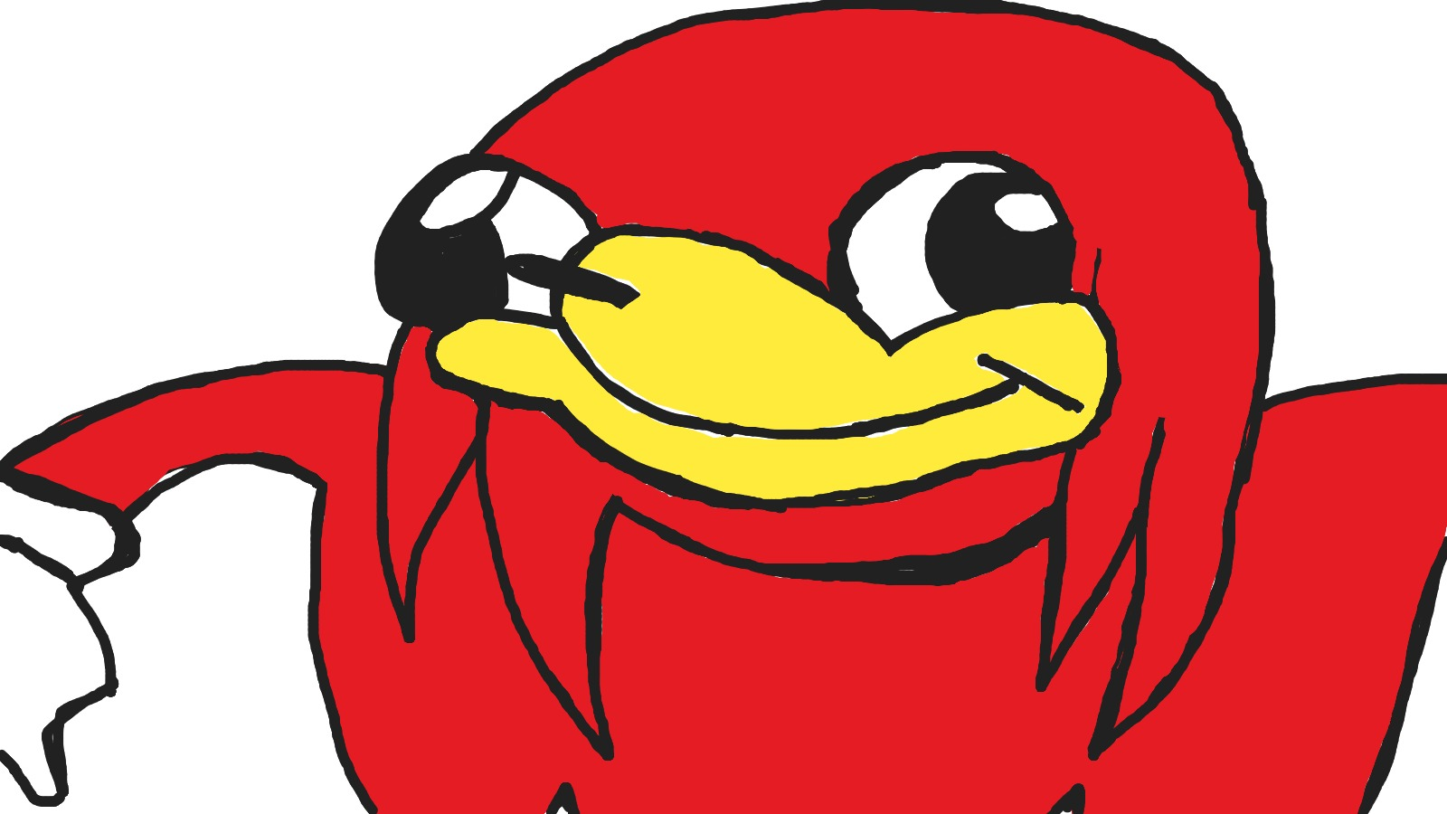 Uganda knuckles clipart jpg free download My 9 years old brother just draw Knuckles   Ugandan Knuckles ... jpg free download