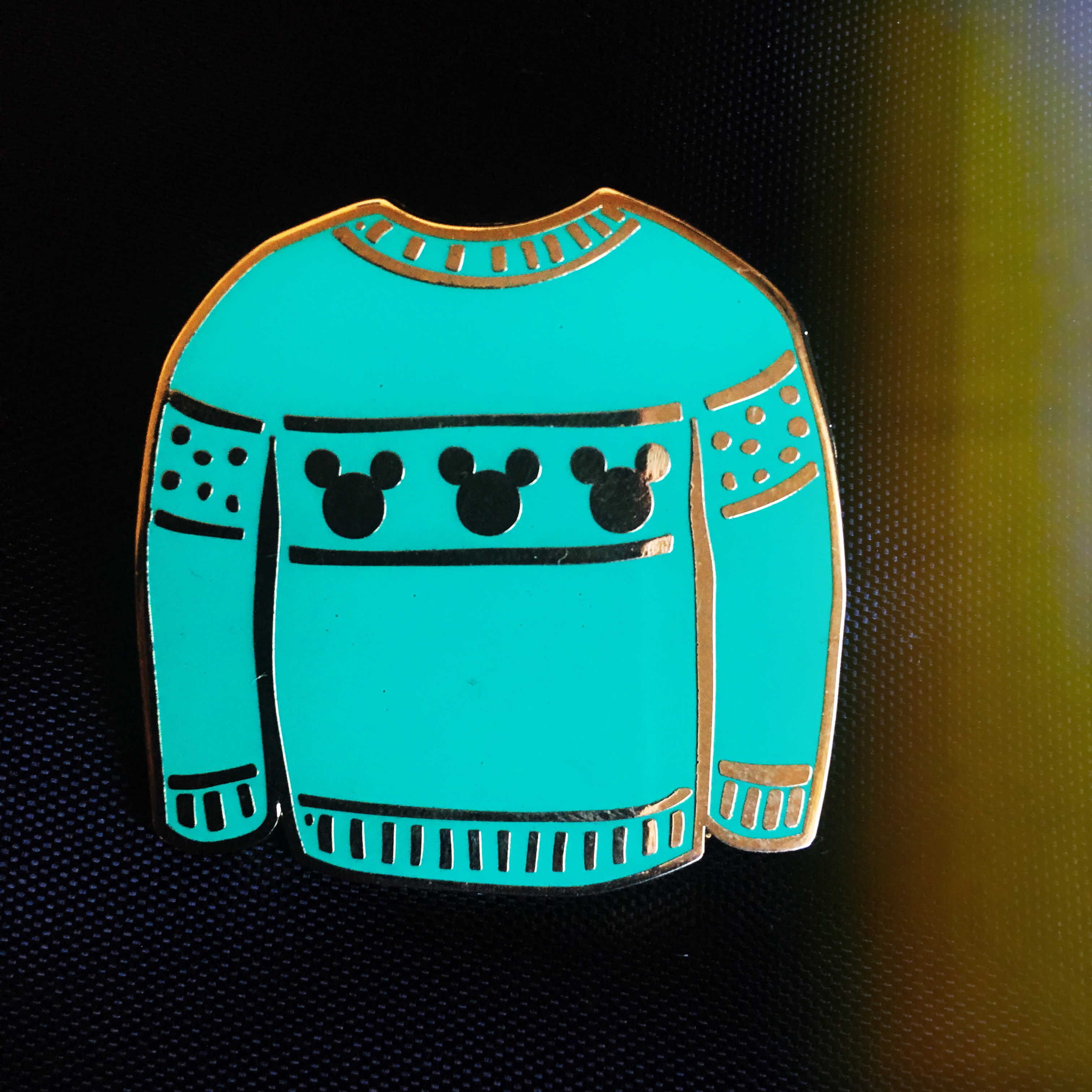 Ugly christmas sweater aqua clipart jpg royalty free stock Ugly Christmas sweater Disney pin!... - Depop jpg royalty free stock