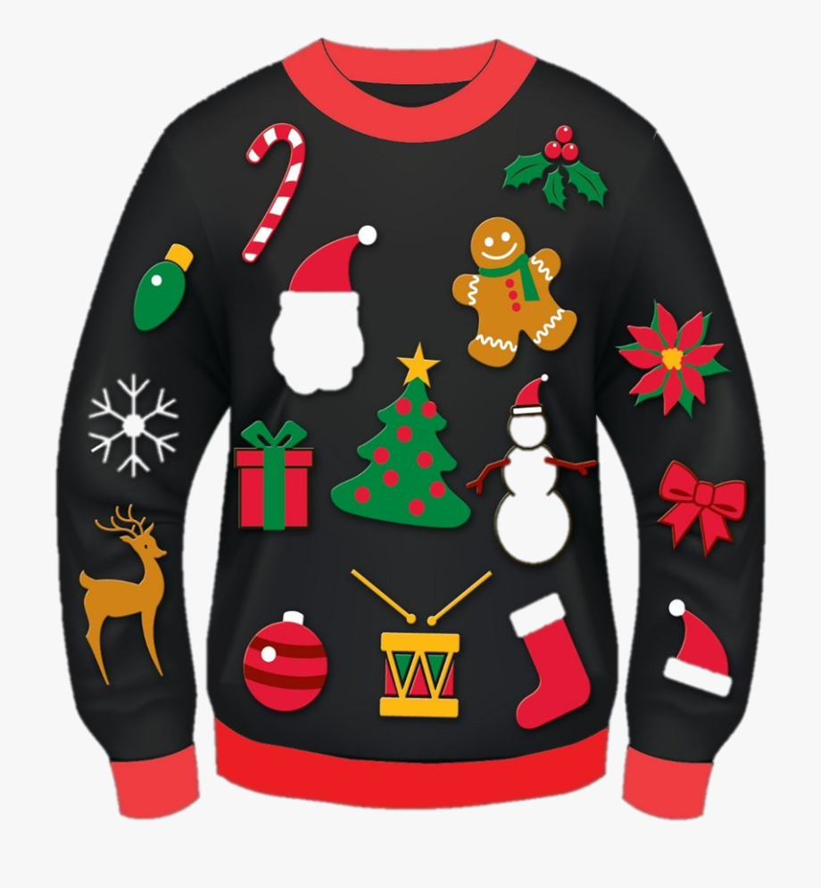Ugly christmas sweater free clipart image freeuse download Ugly Sweater Clipart Transparent Background - Ugly Christmas ... image freeuse download
