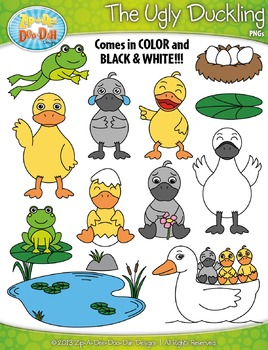 Ugly duckling clipart svg freeuse library FREE The Ugly Duckling Fairy Tale Clipart {Zip-A-Dee-Doo-Dah Designs} svg freeuse library