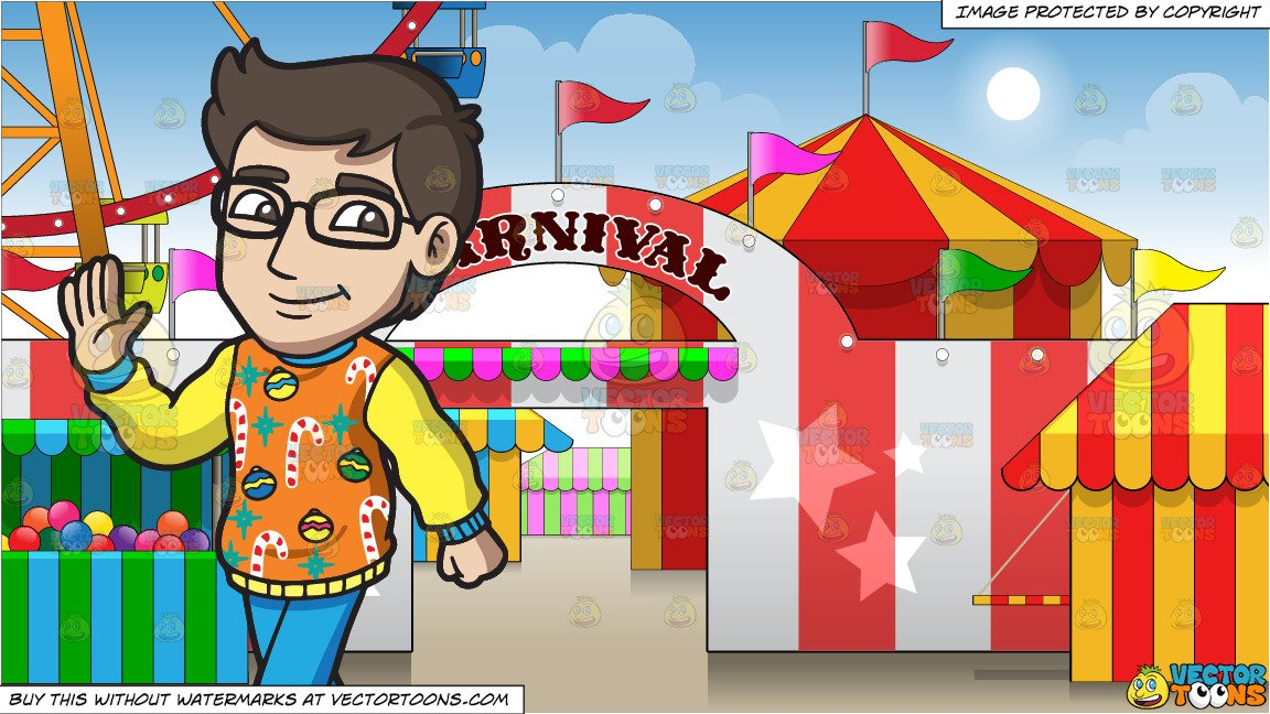 Ugly sand castle clipart black and white clip library A Smart Man In An Ugly Christmas Sweater and Exterior Of A Carnival  Background clip library