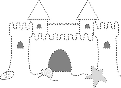 Ugly sand castle clipart black and white jpg freeuse library Medieval castle clip art free vector download (220,214 Free ... jpg freeuse library