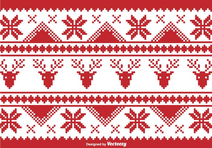 Ugly sweater patterns clipart black and white vector free stock Christmas traditional pixel border - Download Free Vectors ... vector free stock