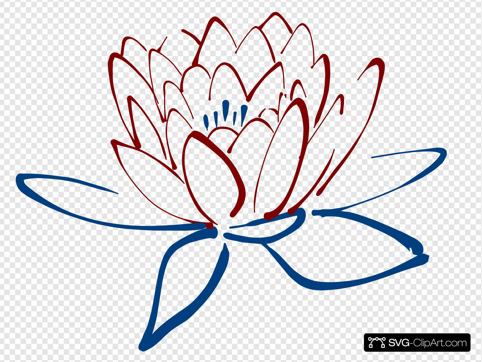 Ugt clipart jpg royalty free stock Red Blue Lotus Clip art, Icon and SVG - SVG Clipart jpg royalty free stock